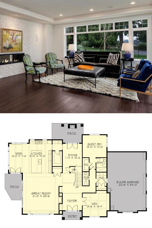Two Story 5 Bedroom Meydenbauer Home Floor Plan In 2020 Craftsman House Plan House Floor Plans Brick Cladding