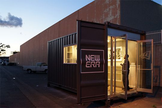 new-era-cap-shipping-container-store | Popup store ...