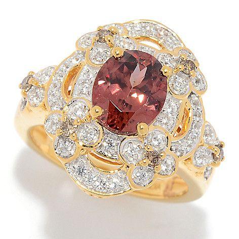 NYC II® 2.74ctw Rose Zircon & Multi Gem Ring on sale at shophq.com   Multi gem ring, Multi gem ...