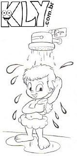De Banho Higiene Corporal Atividades De Colorir Desenhos Para