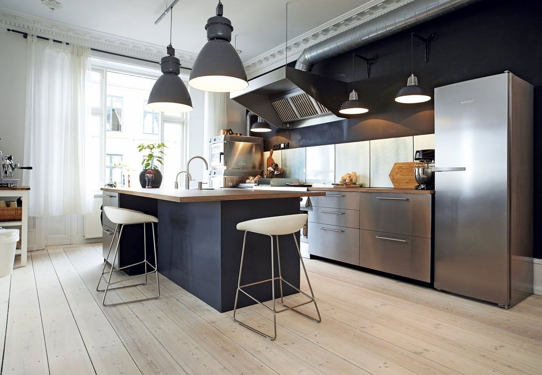large pendant lights Modern kitchen, Contemporary