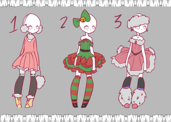 Outfit Adopts #3 SOLD by Lunathyst.deviantart.com on @DeviantArt