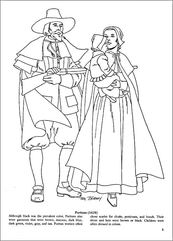 Puritan Coloring Page Fashion Coloring Book Color Coloring Books