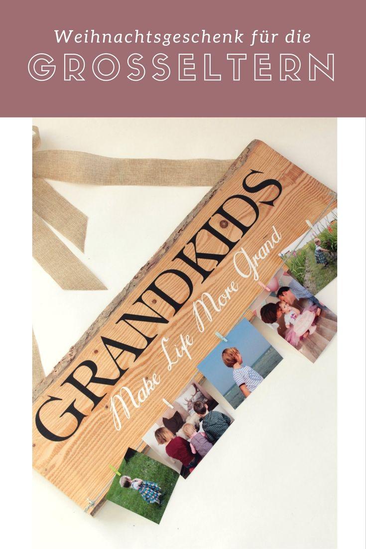DIY: Weihnachtsgeschenk für die Großeltern | Weihnachten | Pinterest ...