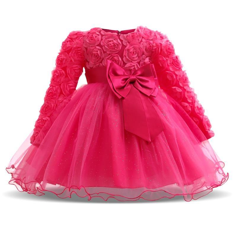 Princess Toddler Kid Baby Girl Clothes Weddings Birthday Party Ruffle Tutu Dress