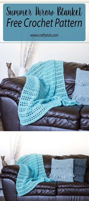 summer throw free crochet pattern maggies crochet all about crocheting group board pinterest - Hakelmutzen Muster