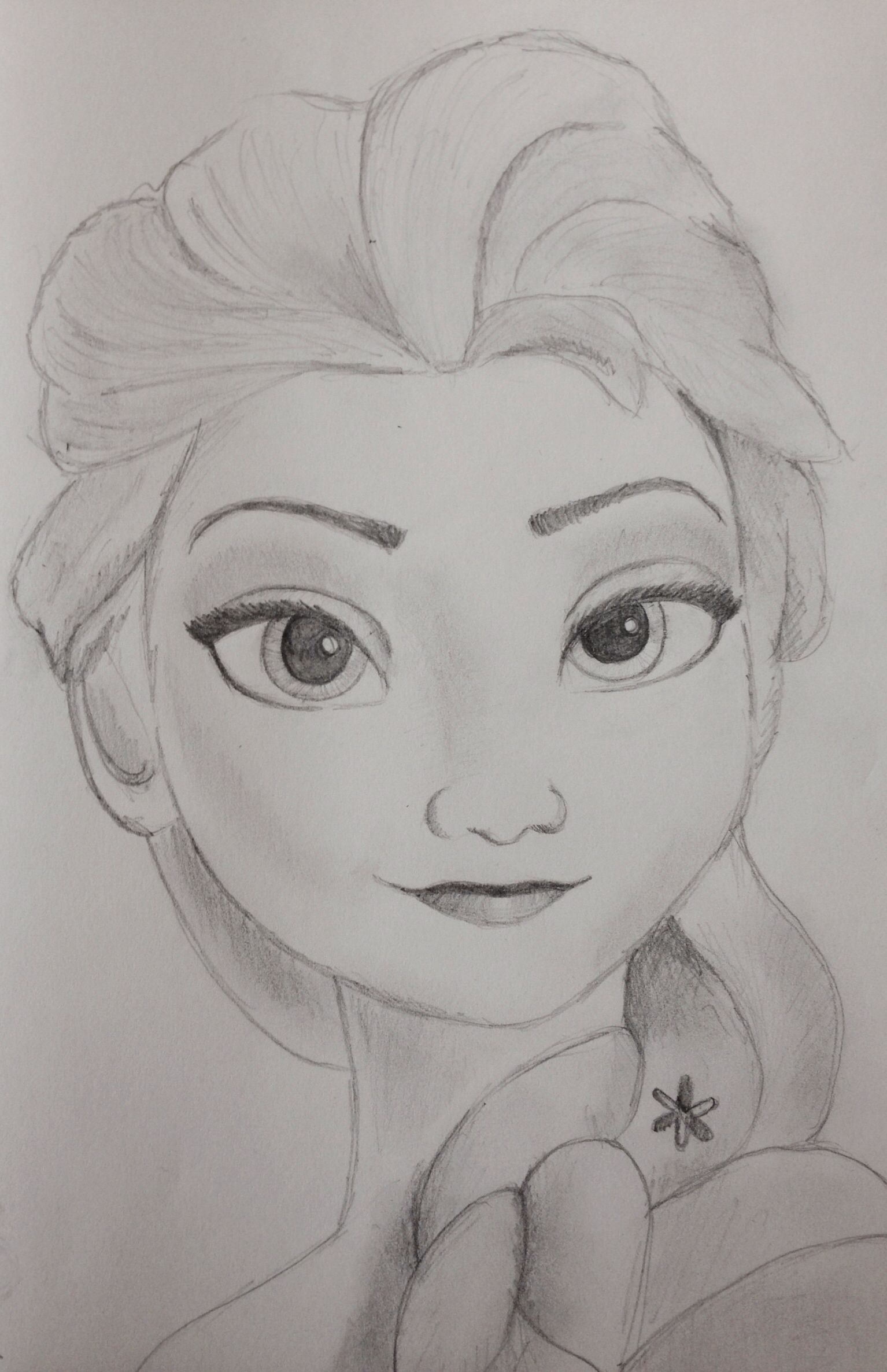 Elsa Frozen Disney Princess Pencil Sketch With Images Disney