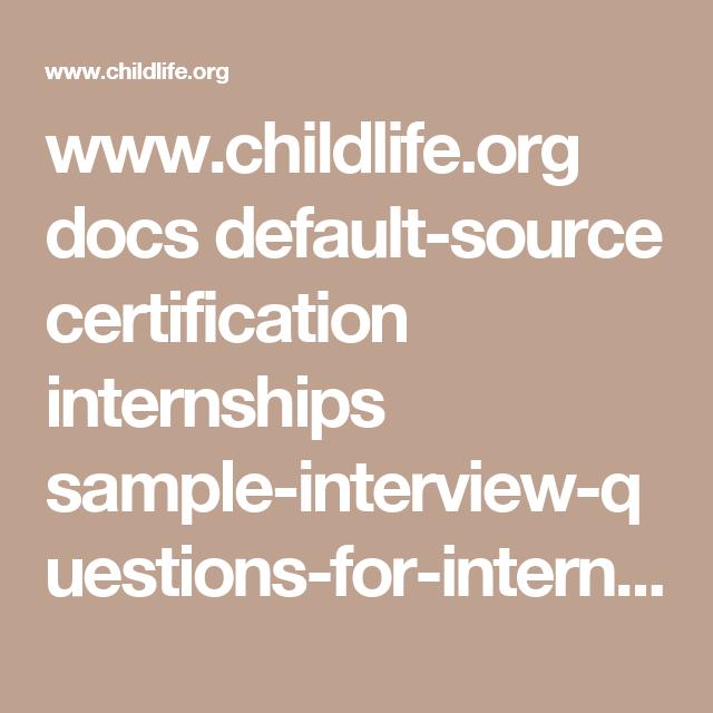 www.childlife.org docs default-source certification internships ...