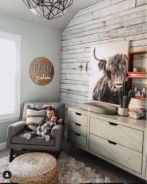 Rustic nursery Baby room