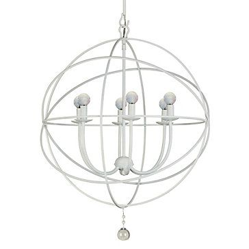 Eclipse Chandelier 22 Quot W White Hanging Lamps