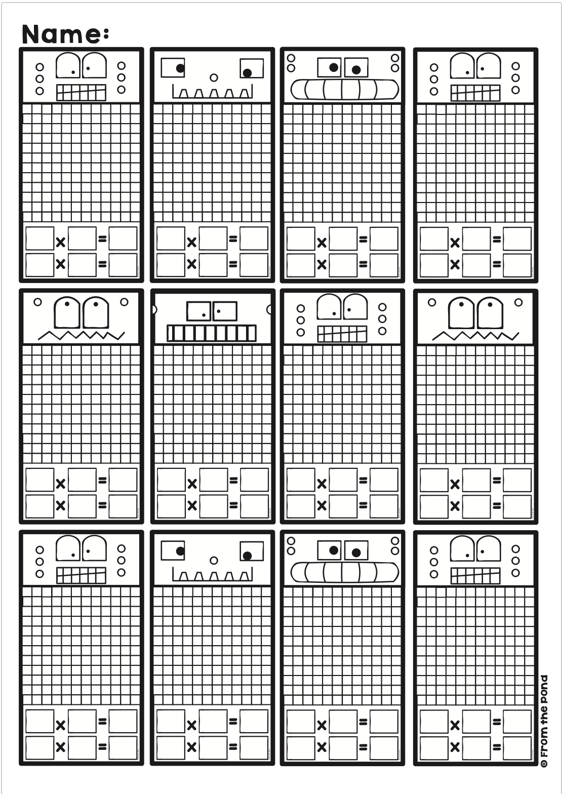 Arrays Activities Math Centers And Worksheets For