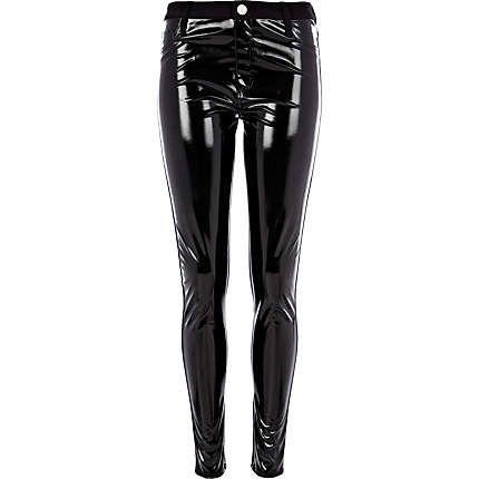 088aae6b39be48 Black high shine PVC front trousers #riverisland Leggings Sale, Leggings  Are Not Pants,