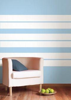 Otra forma diferente de pintar rayas horizontales en tu pared decoraci n creativa pinterest - Pintar paredes a rayas horizontales ...