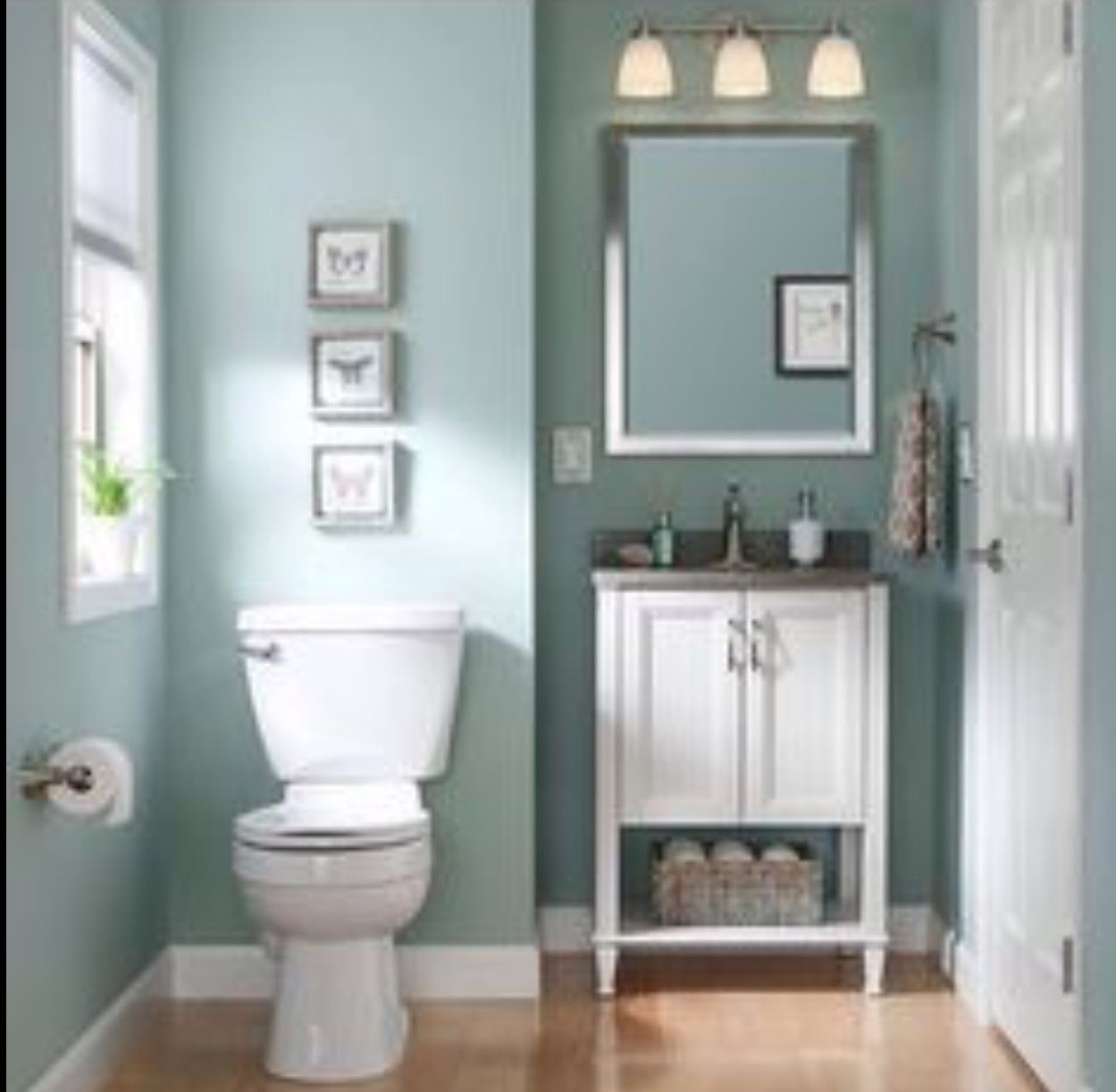 awesome blue bathroom paint color ideas   SW Worn Turquoise   House in 2019   Bathroom paint colors ...