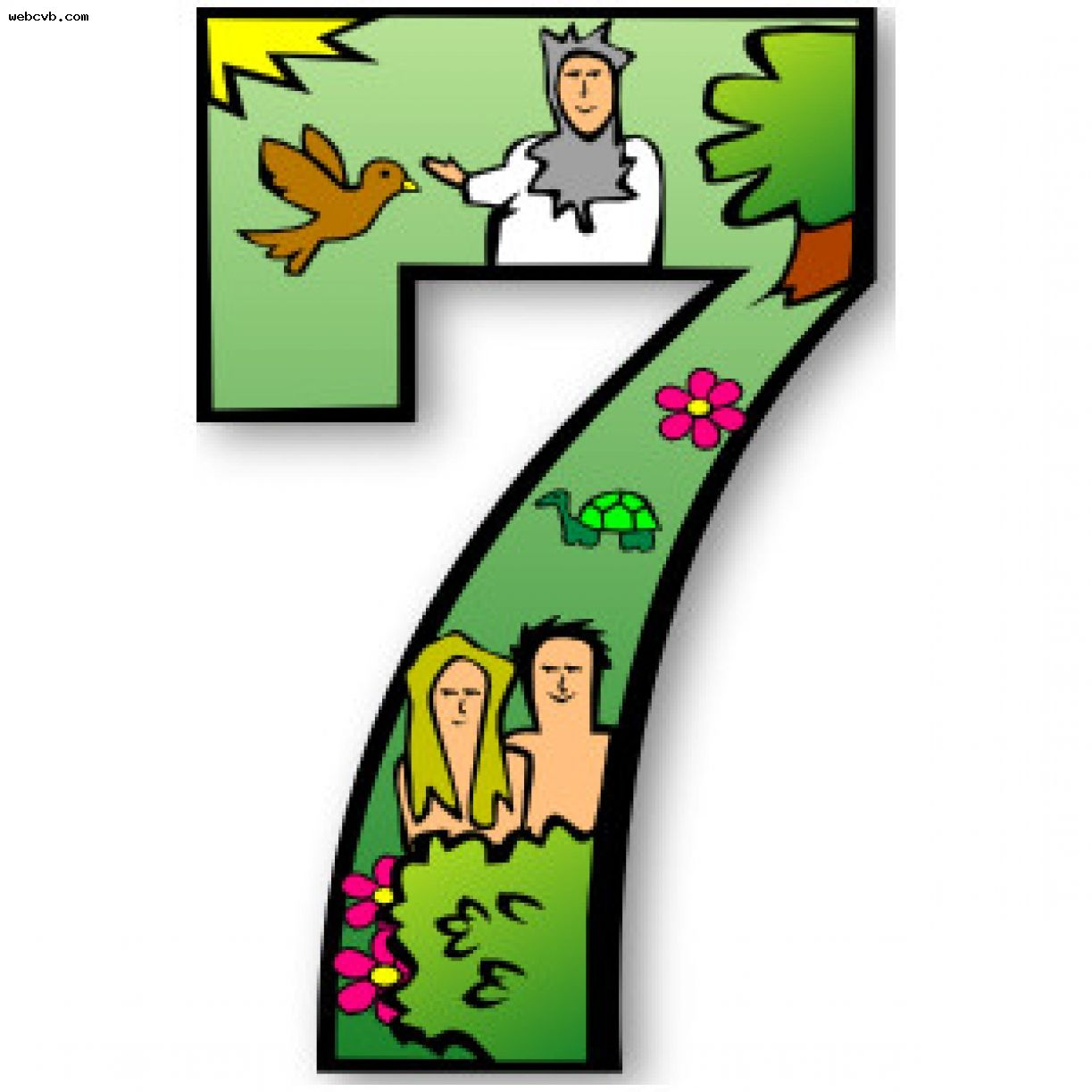40+ Seven Days Of Creation Clipart