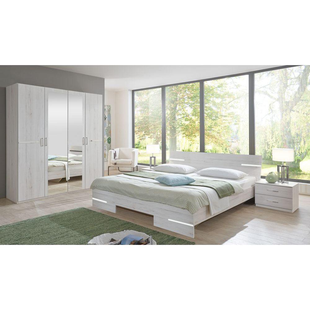 Schlafzimmer Set Anna Bett 160x200 mit 4trg