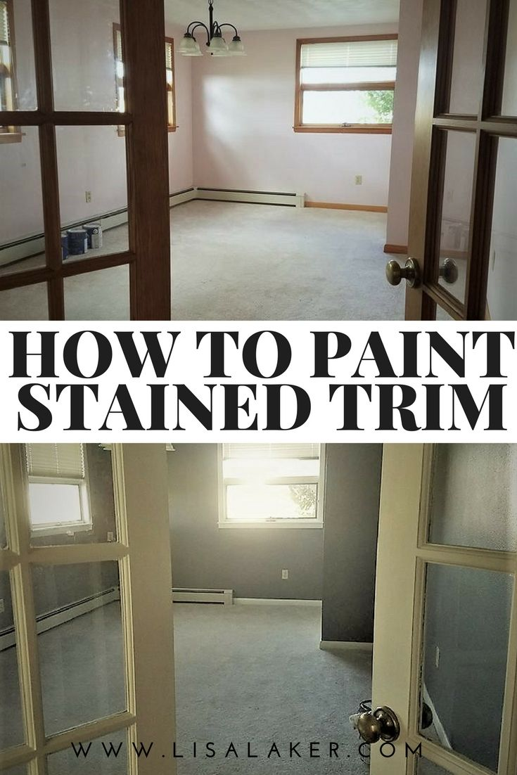 Etonnant How To Paint Stained Trim, Tips For Painting Stained Trim, Painting Woodwork