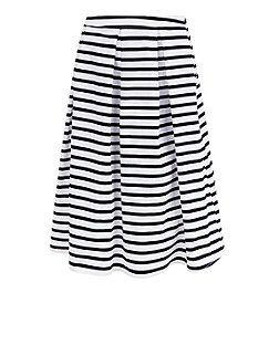 8d31f74f86 Blue Stripe Balloon Midi Skirt   New Look   Style   Skirts, Midi ...