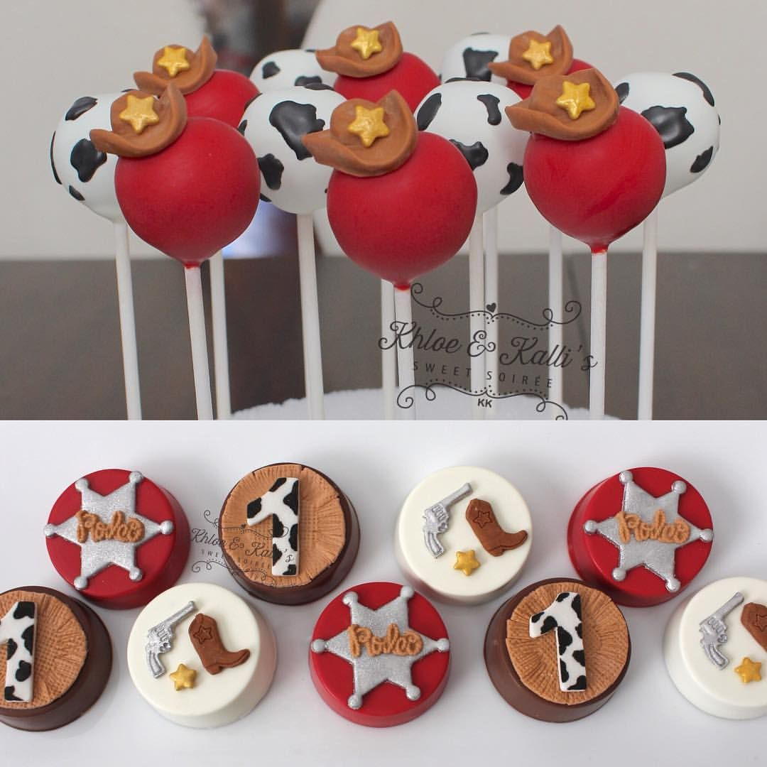 Cowboy party ideas goodtoknow - Cowboy Cake Pops And Decorated Oreos