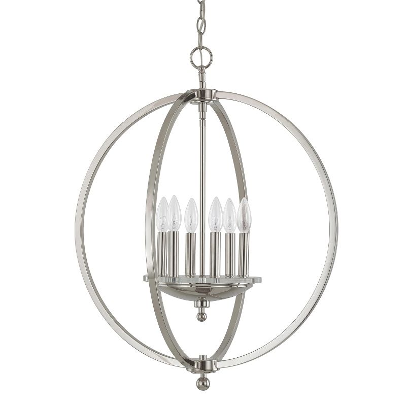Perry 4866 pn 6 light pendant capital lighting fixture company perry 4866 pn 6 light pendant capital lighting fixture company mozeypictures Gallery