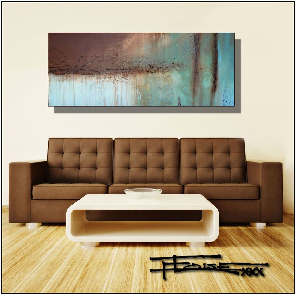 Abstract modern canvas painting contemporary wall art large framed