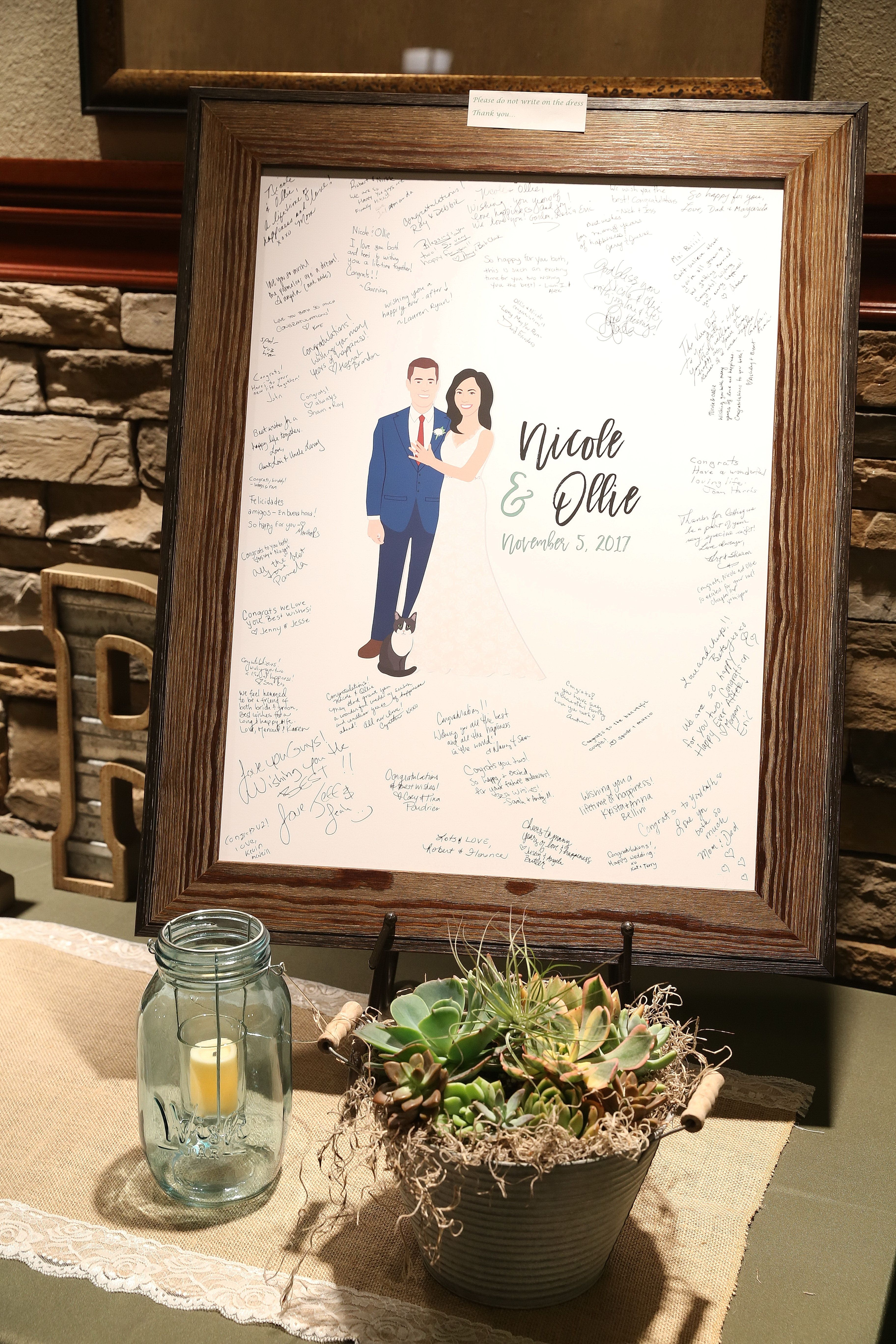 The Most Unique Wedding Guest Book Alternative A Custom Portrait