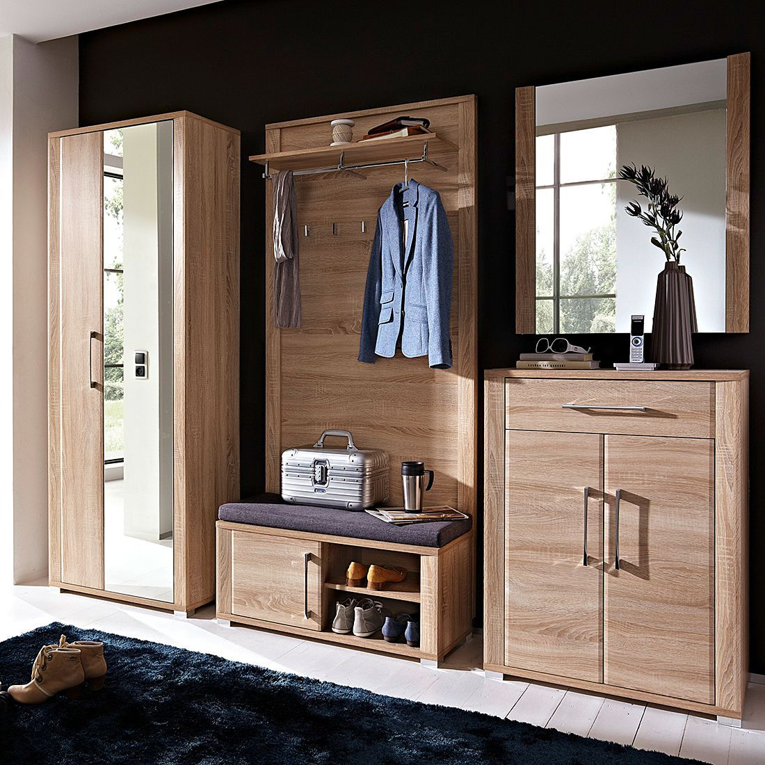 Garderobe Silkeborg 5 Teilig Ikea Mobel Makeover Garderoben