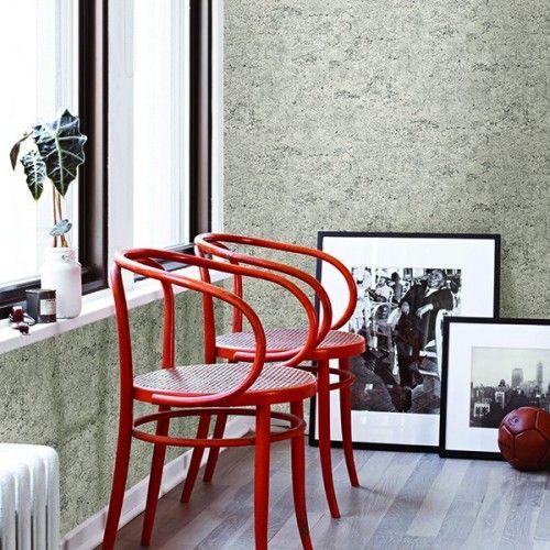 Tapete Stein-Optik Zement Wand Rasch Textil grau 022313 - graue wand und stein