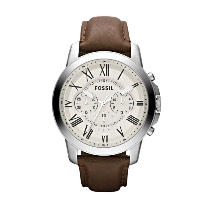 Montre Homme Fossil Grant Leather FS4735 Marron 4888f2fe63ee