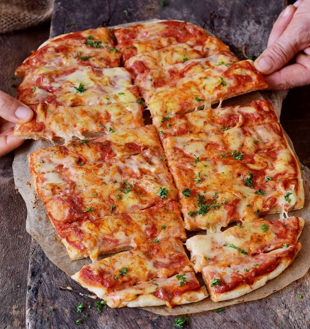 Pizza Feast Who Wants A Virtual Slice Or Maybe Two I Shared This Delicious Vegan Pizza With My Vegan Cheese Sauce Vegan Cheese Sauce Recipe Vegan Cheese