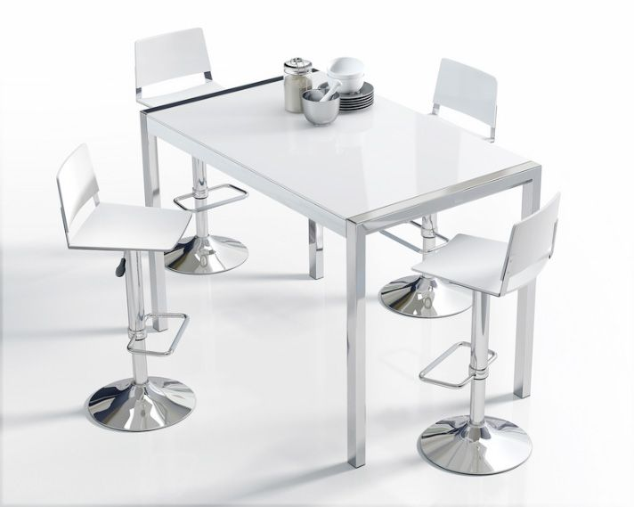 barra alta moderna para cocina puede ser con tope lacado o de granito - Mesas Altas Ikea