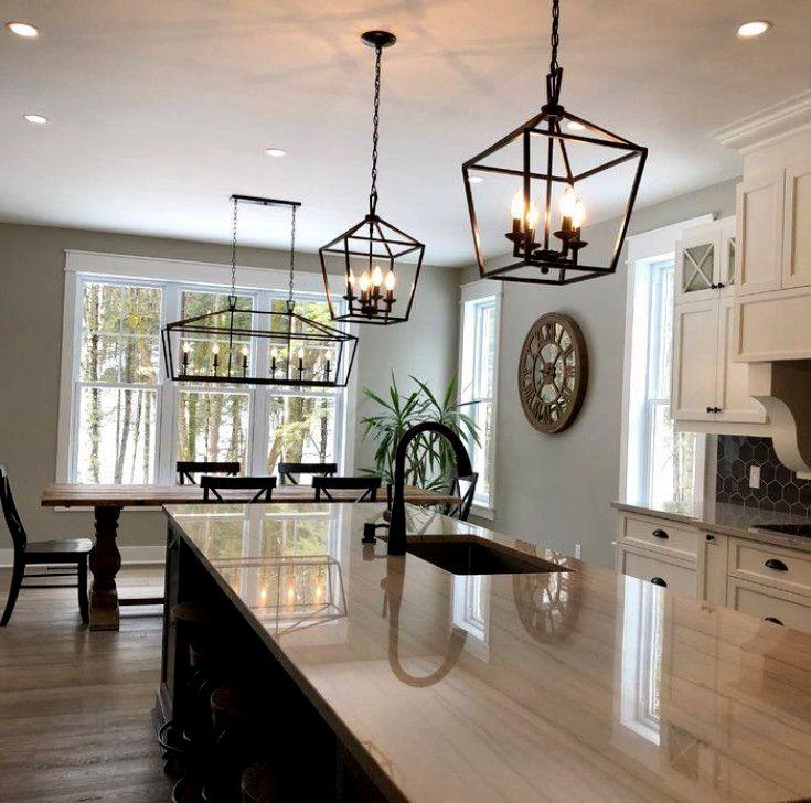Carmen 6 Light Kitchen Island Linear Pendant In 2021 Kitchen Remodel Small Modern Farmhouse Kitchens Kitchen Remodel