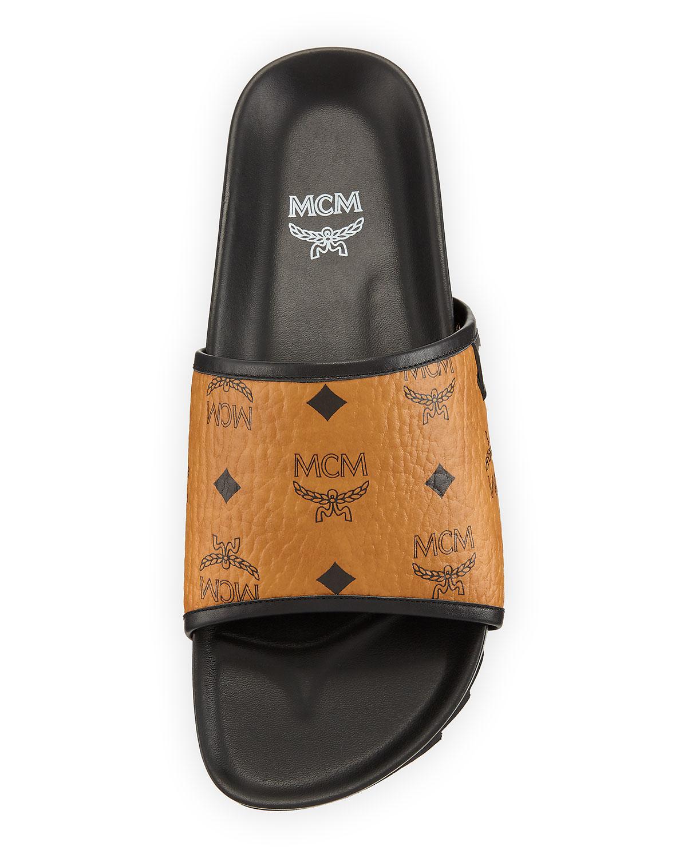 8f0851963 Mcm Men's Visetos Slide Sandal Mcm Shoes, Neiman Marcus Shoes, Luxury  Gifts, Couture