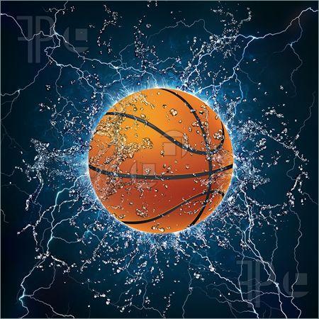 Cool Basketball Illustration Of Basketball Ball On Water 2d Graphics Computer Design Basketball Ball Basketball Comforter Basketball