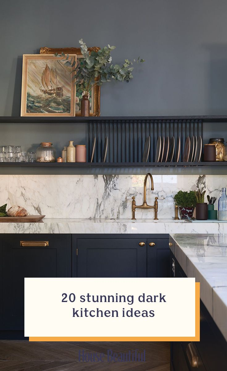 20 stunning dark kitchen ideas #bluegreykitchens