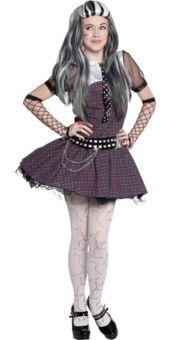 Girls Monster High Frankie Stein Dress Costume - Party City