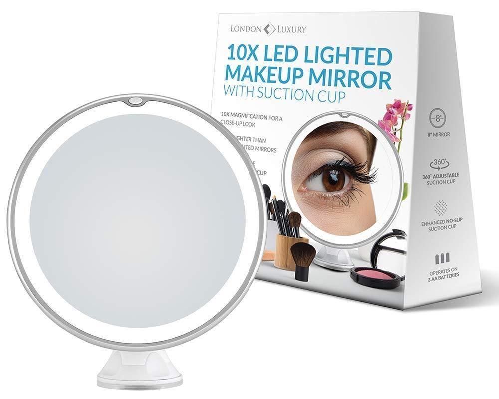 London Luxury 10x Magnifying Led Lighted Makeup Mirror Unbranded Makeup Mirror With Lights Travel Makeup Mirror Makeup Mirror