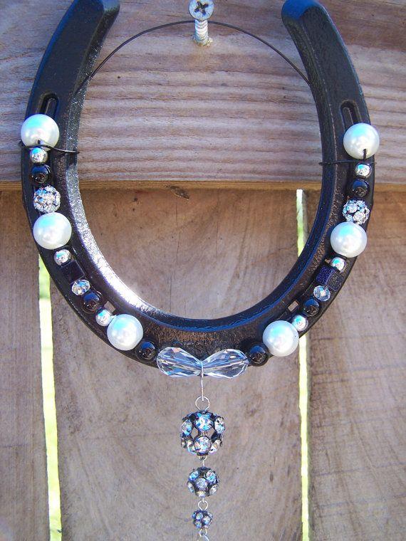 Decorative Custom Beaded Horseshoe with by LKsBeadedHorseshoes, $10.00