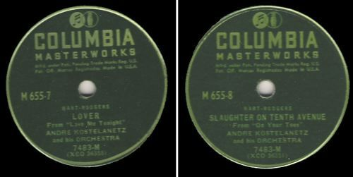 Kostelanetz, Andre / Lover / Columbia Masterworks M-655 (1946), $8.00