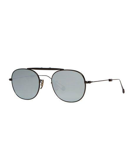 36040aff80f GARRETT LEIGHT Van Buren Foldable Metal Sunglasses