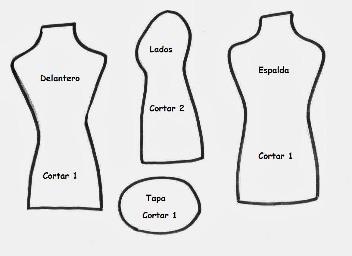 Patrones para hacer un maniqu mini dress form - Patrones para hacer patchwork ...