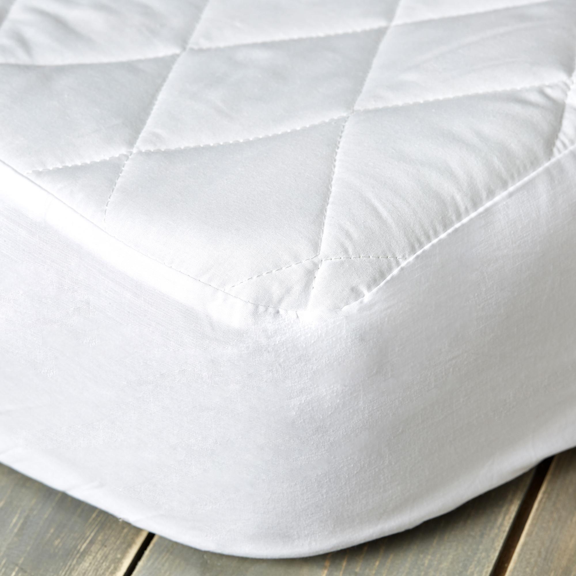 Dunelm Cotton White Staydrynights Quilted Mattress Protector Mattress Mattress Protector King Size Mattress
