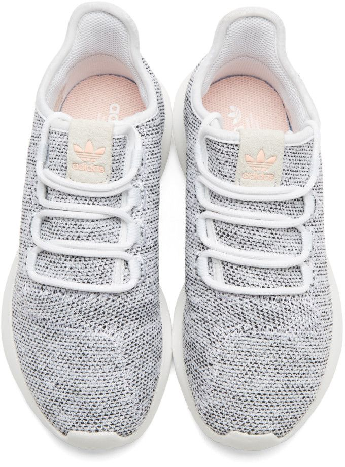 9c56a559fed adidas Originals - White Knit Tubular Shadow Sneakers