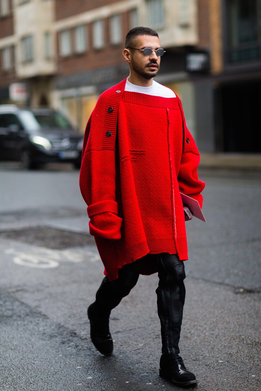 8d001507a Raf Simons Sweaters Street Style 2017 Mens Fashion Week, Fashion 101,  Fashion Trends,