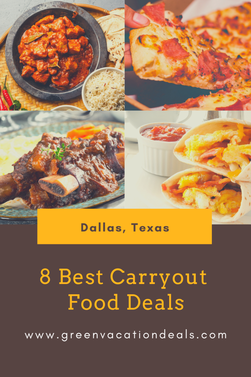 8 Best Dallas Takeout Food Deals Green Vacation Deals In 2020 Takeout Food Meal Deal Food