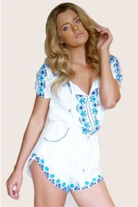 Floral Embroidered Romper  #romper #floral #embroidered #pattern #style @fashionblogger