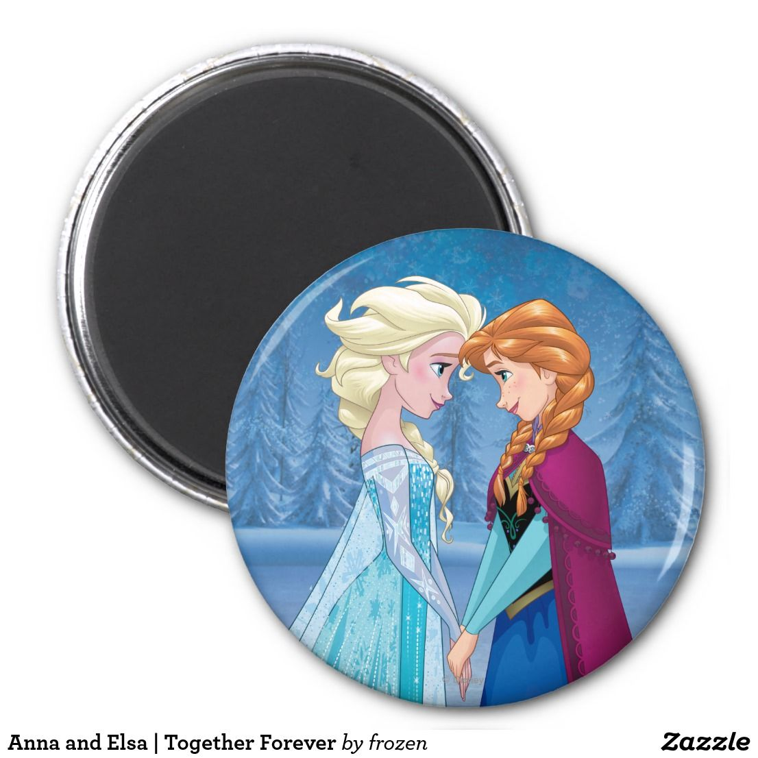 Anna And Elsa Together Forever Magnet Zazzle Com Disney Princess Gifts Disney Frozen Elsa Together Forever