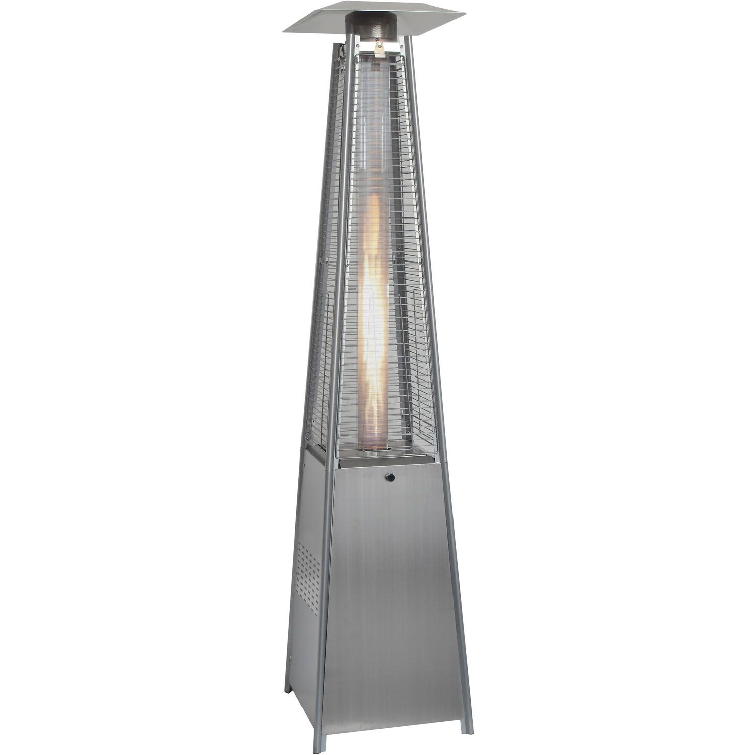 7 Ft Pyramid Propane Patio Heater In Stainless Steel Han102ss Gas Patio Heater Propane Patio Heater Natural Gas Patio Heater
