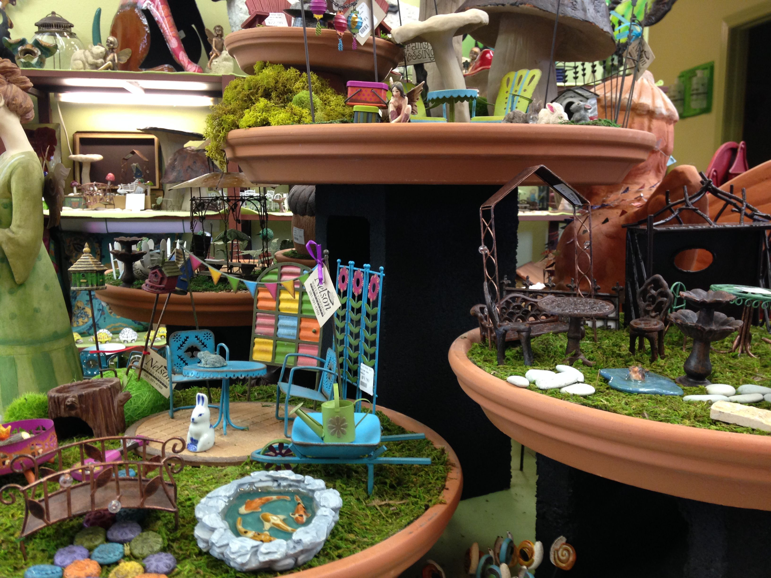 Great way to display fairy garden items for sale LLL Workspace