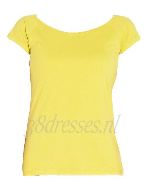 geel basic shirt